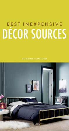The best online sources for affordable and chic home design pieces.