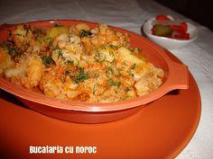 Mancare de conopida - Bucataria cu noroc Noroc, Cauliflower, Macaroni And Cheese, Meat, Chicken, Vegetables, Ethnic Recipes, Anna, Cauliflowers