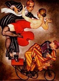 Cyclists Milongueras - Brazilian painting Juarez Machado, 2000 - Milonguera is a woman who is an avid tango dancer. Tango Art, Tango Dancers, Dancing Drawings, Music Illustration, Argentine Tango, Couple Art, Art Deco Fashion, Love Art, Vintage Posters