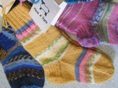 Numbers needed for turn the short-row heel in child's sock