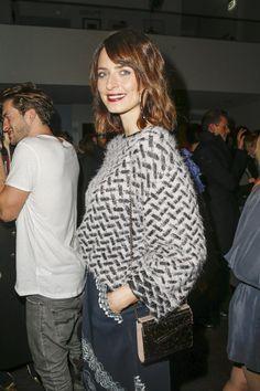 Pin for Later: Die Stars besiedeln Berlin bei der Fashion Week Eva Padberg bei der Modenschau von Lala Berlin