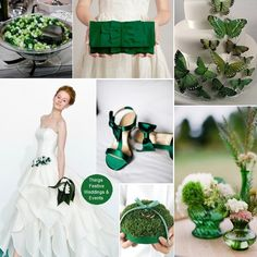 """""""beautiful Emerald Green wedding theme featuring Pantone's Color of the Year"""" LOVE green!"""