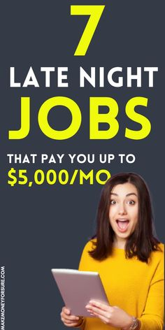 7 Real Part-Time Night Jobs from Home (Make $1000 Every Week) Earn Money From Home, Earn Money Online, Way To Make Money, Money Fast, Affiliate Marketing, Marketing Plan, Media Marketing, Night Jobs, Job Website