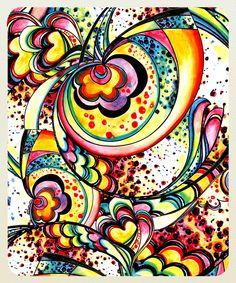 Ceci Canassa minha estampa em aquarela . my watercolour pattern on  www.followthecolours.com.br <3