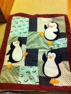 Penguin 3-D panel quilt. Limited availability. http://www.facebook.com/RhodyMamaDesigns