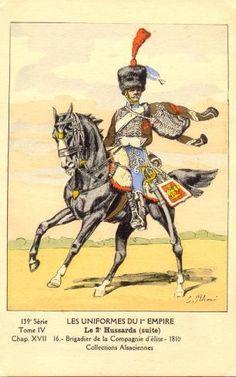 FRANCE - Brigadier de la compagnie d'elitè des 2° Regiment Hussards, 1810