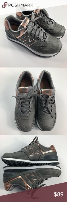 New Balance 574 Classic Gray/Rose Gold Sneaker 8 New in box. Women's New Balance 574 Classics in Gray and Rose Gold/Bronze. Part of the precious metals collection. Size 8.  🚫NO TRADES New Balance Shoes Sneakers