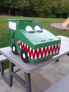Dinosaur Box Car- it came out great! (Had to put #29 for Adrian Beltre on one side and #9 for Tony Romo on the other!!)