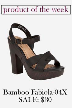 Bamboo Fabiola-04X Block Heel
