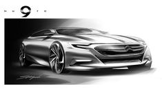 Citroen Numero 9 Concept Design Sketch