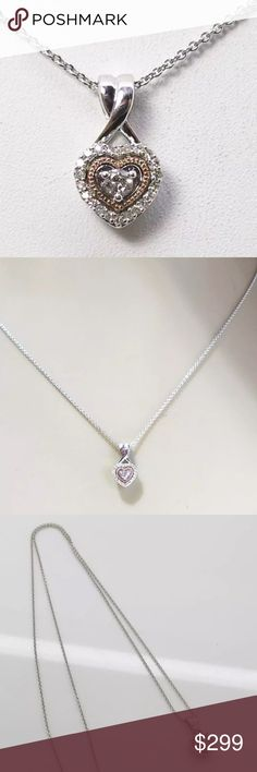 1/3 ctw H-SI genuine diamond/10k rose gold SS nckl 1/3 ctw H-SI genuine diamond/10k rose gold/SS heart necklace! Absolutely stunning!! Jewelry Necklaces