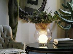 Blown glass table lamp / vase GIOVA by FontanaArte design Gae Aulenti