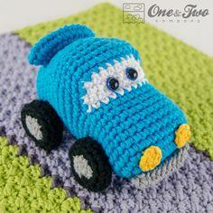 Ravelry: Racing Car Lovey Security Blanket pattern by Carolina Guzman Crochet Car, Crochet Lovey, Crochet For Kids, Crochet Dolls, Crochet Security Blanket, Crochet Blanket Patterns, Dou Dou, Crochet Animals, Baby Toys