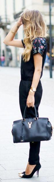 Outfit Per Il Giorno & Per La Sera - Total Black Jumpsuit by Scent Of Obsession