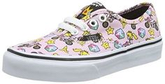 19644c0b950 Vans Nintendo Kids Princess Peach Motorcycle Authentic Trainers-UK 2