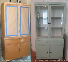 Hutch Refinished in Light Sage