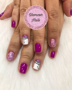 Glamour Nails, Diana, Beauty, Purple Nails, Cute Nails, Hair And Beauty, France, Fingernail Designs, Shiny Nails