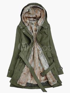 Bleted Hooded Coat