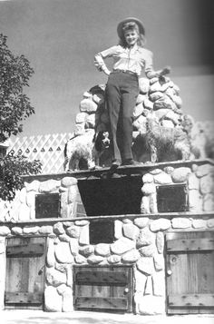 "welovelucille: "" Lucille Ball and her beloved dogs atop a barbeque that Desi built. """