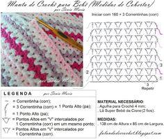 Best 12 crochet v-stitch blanket – SkillOfKing. Crochet Collar Pattern, Crochet Square Patterns, Beading Patterns Free, Crochet Stitches Patterns, Crochet Designs, Motif Mandala Crochet, Crochet Motifs, Crochet Chart, Filet Crochet
