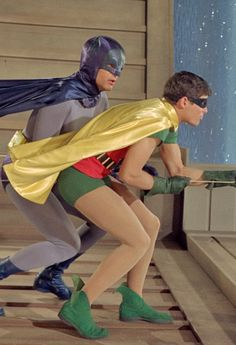 """""""Batman and Robin - I remember this show ! It was so corny but, it was fun to watch with its POW! And the Joker, the Penguin and other comic villains. Batman and Robin always won! Batgirl, Batman Tv Show, Nananana Batman, Batman Robin, Batman 1966, Batman Batman, Old Shows, Dc Movies, Vintage Tv"""