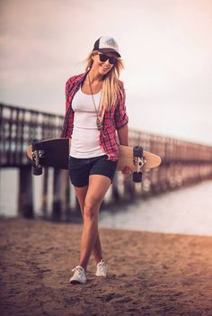 """""""Acutally my Longboard is totally useless at the beach but fu** you I'm pretty!"""""""