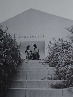 Judy Chicago with Miriam Schapiro in front of the amazing Womanhouse. One of my favorite photographs.