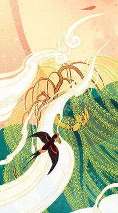 【西湖十景】插画 - 原创作品 - 站酷(ZCOOL) Book Drawing, Drawing Sketches, Art Drawings, Nature Illustration, Business Illustration, Storyboard, Matte Painting, China Art, Creative Artwork