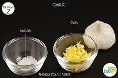 garlic to treat cavity things need