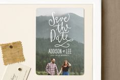 """Skywriting Love"" - Full-Bleed Photo, Whimsical & Funny Save The Date Magnets in Natural by Ariel Rutland."