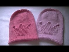 Вязание шапки бини узором со звездой - YouTube