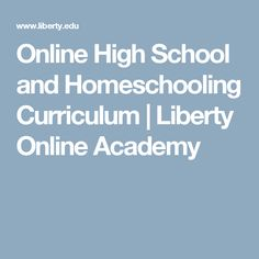 liberty online high school