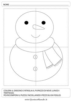 Schede logico-matematiche per l'inverno - Fantavolando Christmas Worksheets, Crafts For Kids To Make, Educational Games, Winter Time, Pre School, Preschool Crafts, Activities For Kids, Snowman, Hello Kitty