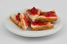 Miniature Plate of Toast with Jam