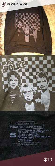 The Police Sting Graphic Crewneck Sweater Top Graphic band tee/crew neck The Police music sweater. Urban Outfitters Tops Sweatshirts & Hoodies