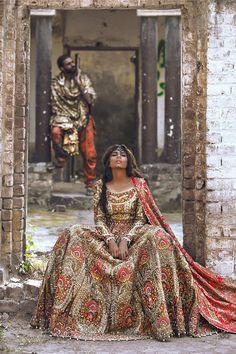 Everything Ali Xeeshan does is anything but ordinary. Innately creative and distinctively dramatic, Ali's eccentricity is his biggest ally, a quality that manages to leave even his critics speechle… Pakistani Couture, Pakistani Bridal Wear, Pakistani Wedding Dresses, Indian Couture, Pakistani Outfits, Indian Dresses, Indian Outfits, Bridal Dresses, Bridal Lehenga