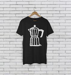 Moka Pot Coffee Kettle Black Barista Unisex T-Shirt
