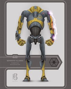 Droides Star Wars, Star Wars Facts, Star Wars Fan Art, Star Wars Toys, Star Wars Characters Pictures, Star Wars Pictures, Star Wars Images, Star Wars Battle Droids, Industrial Robots