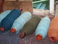 Tweed yarn for weaving, Isle of Skye