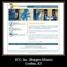 My Web Design Clients: ECC Mixers. Crofton, Kentucky. http://www.eccpackit.com/