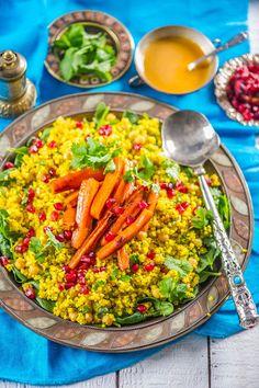 Ise tehtud. Hästi tehtud.: Maroko soe hirsisalat karamelliste porganditega