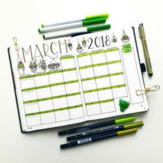 Round up of the Top 8 Green Bullet Planner pages from this week!   My Inner Creative
