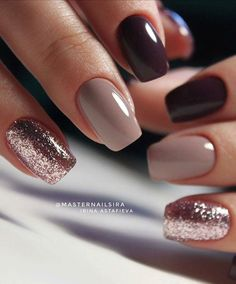 59 Beautiful Nail Art Design To Try This Season - long coffin nails glitter nails mixmatched nail art nail colors marble nail art nail polis nude nails Nail Color Combos, Cute Nail Colors, Fall Nail Colors, Winter Colors, Bright Colors, Color Combinations, Cute Acrylic Nails, Cute Nails, My Nails