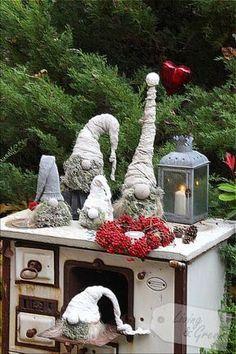 Wichtel aus Beton DIY - Weihnachtsdekoration Wichtel aus Beton DIY