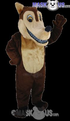 Brown Wolf Mascot Costume T0106 is part of our Animal Mascots Forest Animals Thermo-Lite line. The mascot costume head is constructed out of vaccum-formed styrene for a light-weight, cooler head and includes a screened vision panel, comfort ventilation panels, and a built-in cooling fan. Mascot costume fits most adults ranging from 5'4 inches (162 cm) to 6'2 inches (183 cm) and chest size up to 60 inches (152 cm).