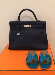 Available @beautyslab kelly bag, taurillion leather, K35, navy blue with silver hardware, selling price AED 39000 or $10685. For more picture kindly whats'app us on +971508818891. #kelly #hermes #preowned #bag #hermesbag #mydubai