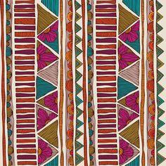 Tribal stripes Art Print by Valentina | Society6. Bohemian. Boho.