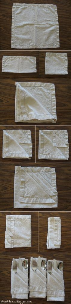 How to fold napkins (table decorating idea)-For the next Sir or Lady Dinner? How to fold napkins (table decorating idea)-For the next Sir or Lady Dinner? Napkin Folding, Napkin Origami, Party Entertainment, Deco Table, Decoration Table, Origami Decoration, Party Planning, Just In Case, Party Time