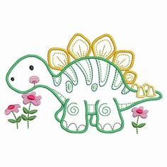Baby Dinosaurs, Project Ideas, Projects, Color Lines, Line Drawing, Baby Quilts, Quilt Blocks, Machine Embroidery Designs, Needlework
