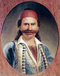 Ο Οδυσσέας Ανδρούτσος (Πρέβεζα ή Ιθάκη, 1790 ή μεταξύ 1788-1790 — Αθήνα, 5 Ιουνίου 1825) ήταν επιφανής αγωνιστής οπλαρχηγός της Επανάστασης του 1821. Πολέμησε μέχρι το 1820 για λογαριασμό του Αλή Πασά και στη συνέχεια αγωνίστηκε για την επανάσταση. Φυλακίστηκε το 1825 κατηγορούμενος για συνεργασία με τους Τούρκους στην Ακρόπολη των Αθηνών όπου και δολοφονήθηκε πριν δικαστεί στις 5 Ιουνίου του ίδιου χρόνου[1][2]. Military Art, Military History, Greek Independence, Greek Warrior, Greek History, History Facts, Beautiful Beaches, We The People, The Past